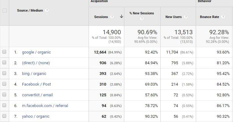 source/medium report google analytics